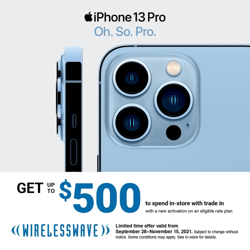 iPhone 13 Pro: Get up to $500 to spend in-store