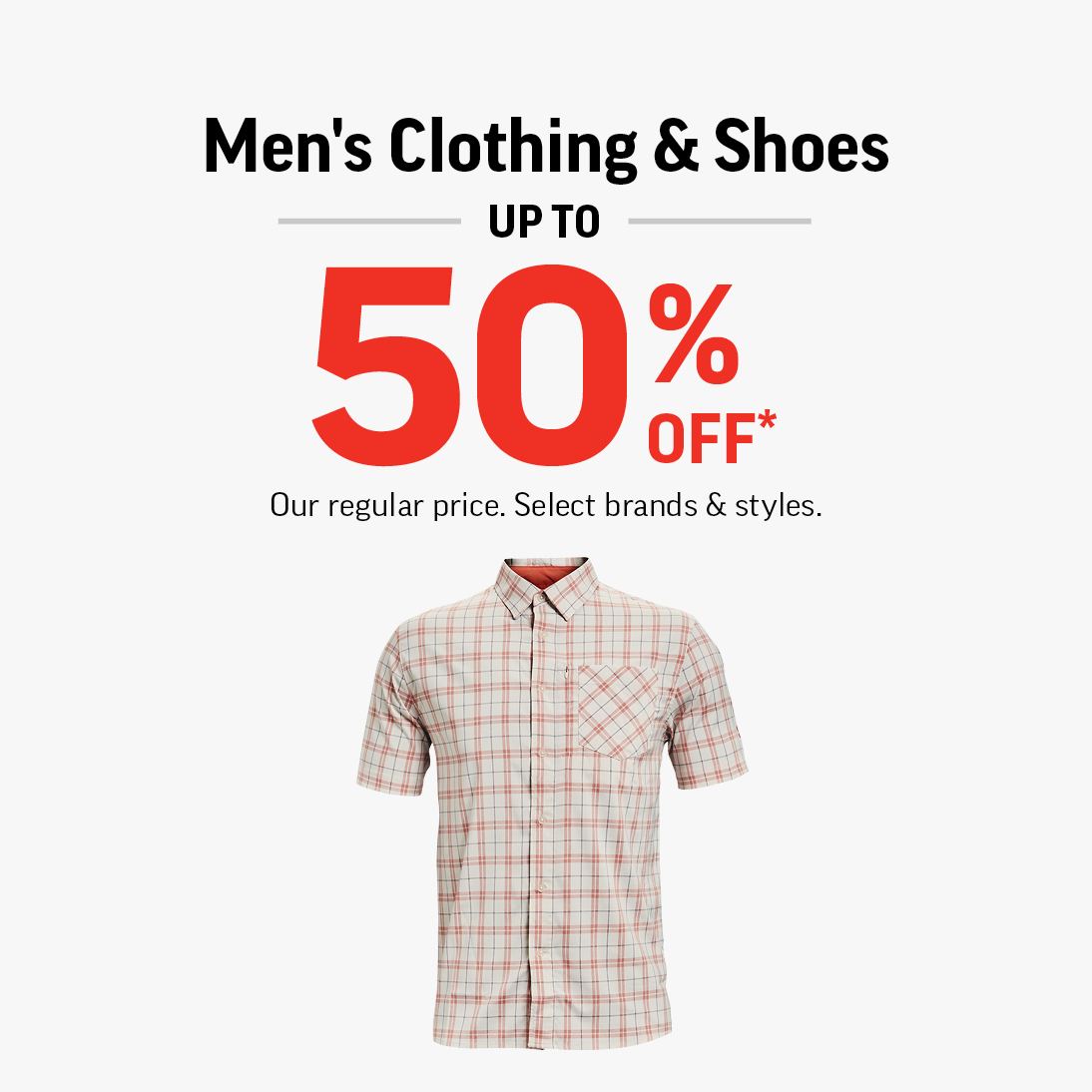 Men's & Clothing Shoes Up To 50% Off!