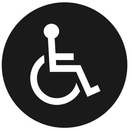 Acces pour personnes à mobilité réduite logo