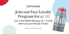 Join our Free Loyalty Program and get a gift from MILK Makeup!