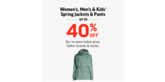 Spring Jackets & Pants Up To 40% Off!