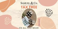 TAX FREE on ALL FOOTWEAR